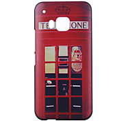 Red Pavilion Pattern PC Material Phone Case for HTC M9