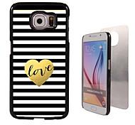 de liefde ontwerp aluminium koffer voor Samsung Galaxy s6