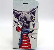 Jokes Pattern PU Leather Case Cover with Stand and Card Holder for iPhone 6 Plus