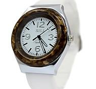 Women's Ladies Rubber Watchband Quartz Watch
