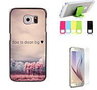 oser rêver gros disque cas de conception avec protecteur d'écran et le support de fixation pour Samsung Galaxy S6