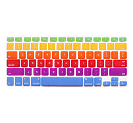 "2th Generation Rainbow Style Silicone Keyboard Cover Skins for Macbook 11"" 13"" 15"""