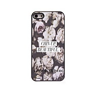 Personalized Gift Chin Up Beautiful Design Aluminum Hard Case for iPhone 5/5S