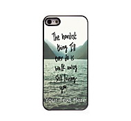 Personalized Gift The Hardest Thing Design Aluminum Hard Case for iPhone 5/5S