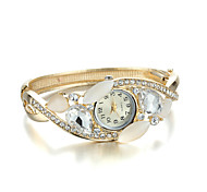 Sjeweler Girls Fashion Golden Opal CZ Diamond Wirst Watch