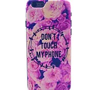Flower Pattern PC Material Phone Case for iPhone 6