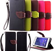 Deluxe Litchi Leaves Wallet Leather Flip Tpu Case For Sony Xperia E3 Wallet Handbag + Lanyard