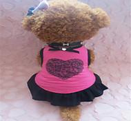Cães Vestidos Rosa Verão Corações