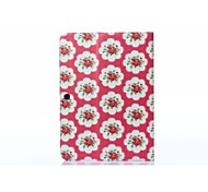 Small Red Flower PU Leather Full Body ABS Case with Carder Holder for Samsung Galaxy T530 /Tab 4 10.1