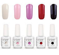nail art gelpolish mergulhar off uv gel unha kit manicure gel cor polonês 5 cores definir s115