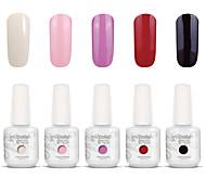 Gelpolish Nail Art Soak Off UV Nail Gel Polish Color Gel Manicure Kit 5 Colors Set S115