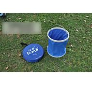 Telescopic folding bucket