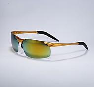 Occhiali da sole maschi's Leggero Avvolgere Nero / Argento / Oro Occhiali da sole / Guida A giorno
