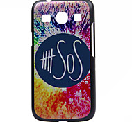 SOS Pattern  Printing Black Frosted PC Material Phone Case for Samsung Galaxy Ace 4 G357FZ