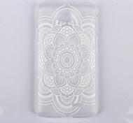 datura modello di stampa trasparente caso glassato pc phone per lg L90