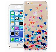 Color of Love Pattern Transparent Phone Case Back Cover Case for iPhone6 Case