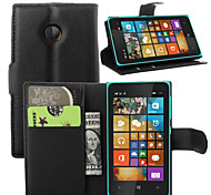 For Nokia Case Wallet / Card Holder / with Stand Case Full Body Case Solid Color Hard PU Leather Nokia Nokia Lumia 640 / Other