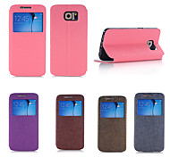 Flip-Open / Window Case For Samsung Galaxy S6  (Assorted Colors)