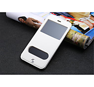 InternatiOnal Version Of The Pu Leather Specially Designed Body Open The Window For iPhone 6 Plus (Assorted Color)