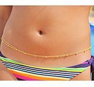 flash de moda cuentas de cobre de la cintura de la cadena del cuerpo de la cadena de las mujeres