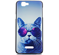 Cat Glasses Pattern PC Material Phone Case for Wiko RAINBOW