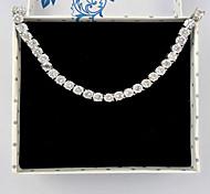 Women's Fashion Silver Crystal Rhinestone Hand Chain Ring Bracelet