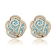 Romantic valentine's roses stud earrings