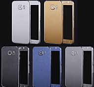 Full Body Side+Top+Back+Button Metal Line Decal Skin Sticker for Samsung Galaxy S6(Assorted Colors)