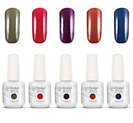 Gelpolish Nail Art Soak Off UV Nail Gel Polish Color Gel Manicure Kit 5 Colors Set S102