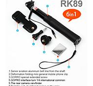 cabo monopé com fio a pole selfie monopé kit selfie rk89e