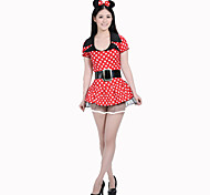 Red Sexy Mouse Lady Dress Women's Halloween Costume