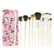 Professional 12pcs Pink Makeup Brush Set Makeup Brushes Cosmetic Brushes Kits Case Makeup Tool