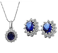 Z&X® Alloy Classic Crystal Flower Jewelry Set Party/Daily 1set(Including Necklaces/Earrings)