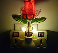 Fantasy Creative Light Control LED Night Light Red Rose