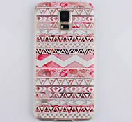 Pink Folk Pattern Ultrathin TPU Soft Back Cover Case for Samsung Galaxy S5 I9600