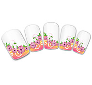 French Flowers Nail Art Stickers