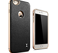 XIBICEN Color Of The Metal +Leather Surrounded By All Rear Cover for IPhone6