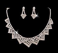 Z&X® Alloy Fashion Elegant Rhinestone/Crystal Jewelry Set Party/Wedding 1set(Including Necklaces/Earrings)