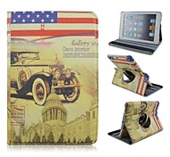 Vintage style  Gran Torino pattern  Foldable Side Flip Stand PU Leather Case  for ipad air ipad 5