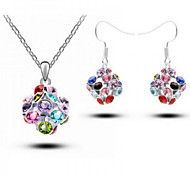 Z&X® Alloy Colorful Crystal Ball Jewelry Set Party/Daily 1set(Including Necklaces/Earrings)