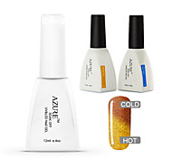 Azure 3 Pcs/Lot Chameleon Temperature Nail Polish for Soak-off Nail Art(#45+BASE+TOP)