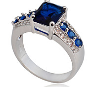 Size 8/9/10 High Quality Women Blue Sapphire Rings 10KT White Gold Filled Ring