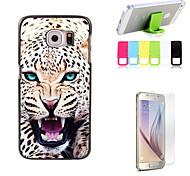 le léopard concevoir étui rigide, avec protecteur d'écran et le support de fixation pour Samsung Galaxy S6