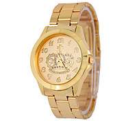 Men's Fashion Crown Digital Disc Round Strip China Watch Movement(Assorted Colors)