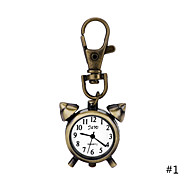 Vintage Fashion Watch Creative Alarm Clock Pendant Necklace Pocket Watch Key Ring Watch For Men Women Gift