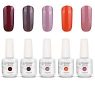 nail art gelpolish impregna fuori uv gel del chiodo del gel di colore smalto kit manicure 5 colori set S135