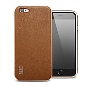 XIBICEN Pure Color Metal +Leather Surrounded By All Rear Cover for IPhone6