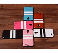 Striped Paste Paper TPU Back Cover for Samsung S4 I9500 (Assorted Colors)