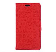 4,5-Zoll-kleine Hexe-Muster PU-Mappen-Lederkasten für HTC Desire 620 (verschiedene Farben)