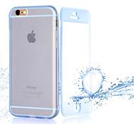 Flip trasparente turno cassa libera del telefono touch TPU per il iphone 6s / 6 più (colori assortiti)